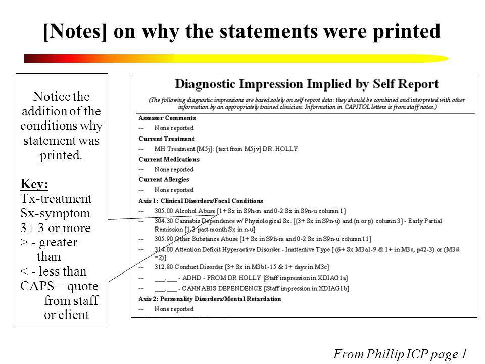 [Notes] on why the statements were printed